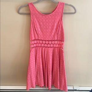 Free People Pink Lace Dress Size 2